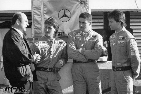 Peter Sauber, Michael Schumacher, Karl Wendlinger, Heinz-Harald Frentzen