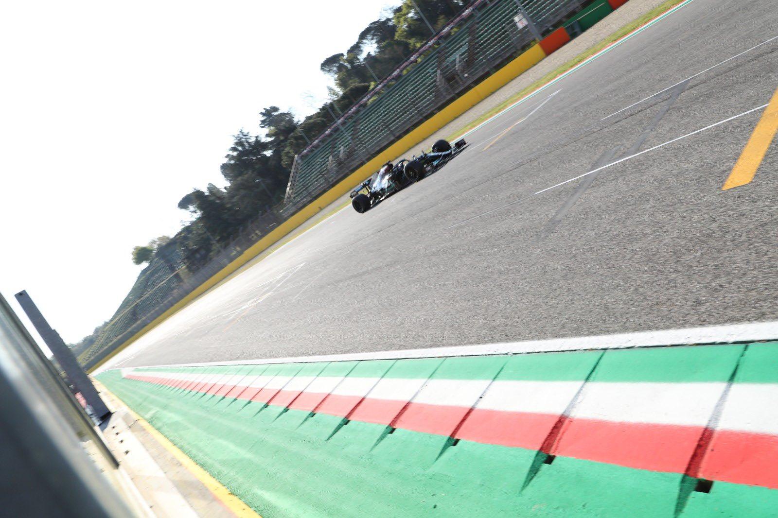 Lewis Hamilton, Pirelli 18 inch tyre test, Imola, 2021