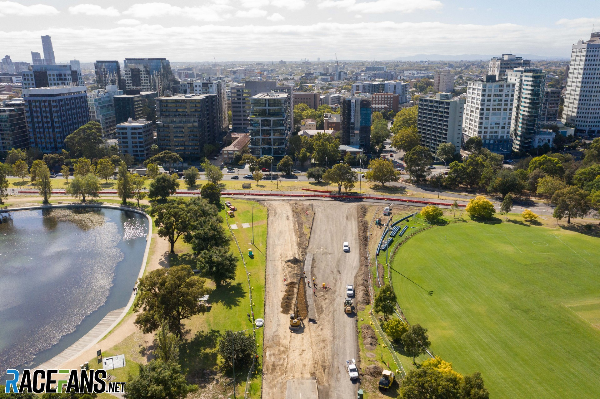 Turn 13 changes, Albert Park, Melbourne, 2021