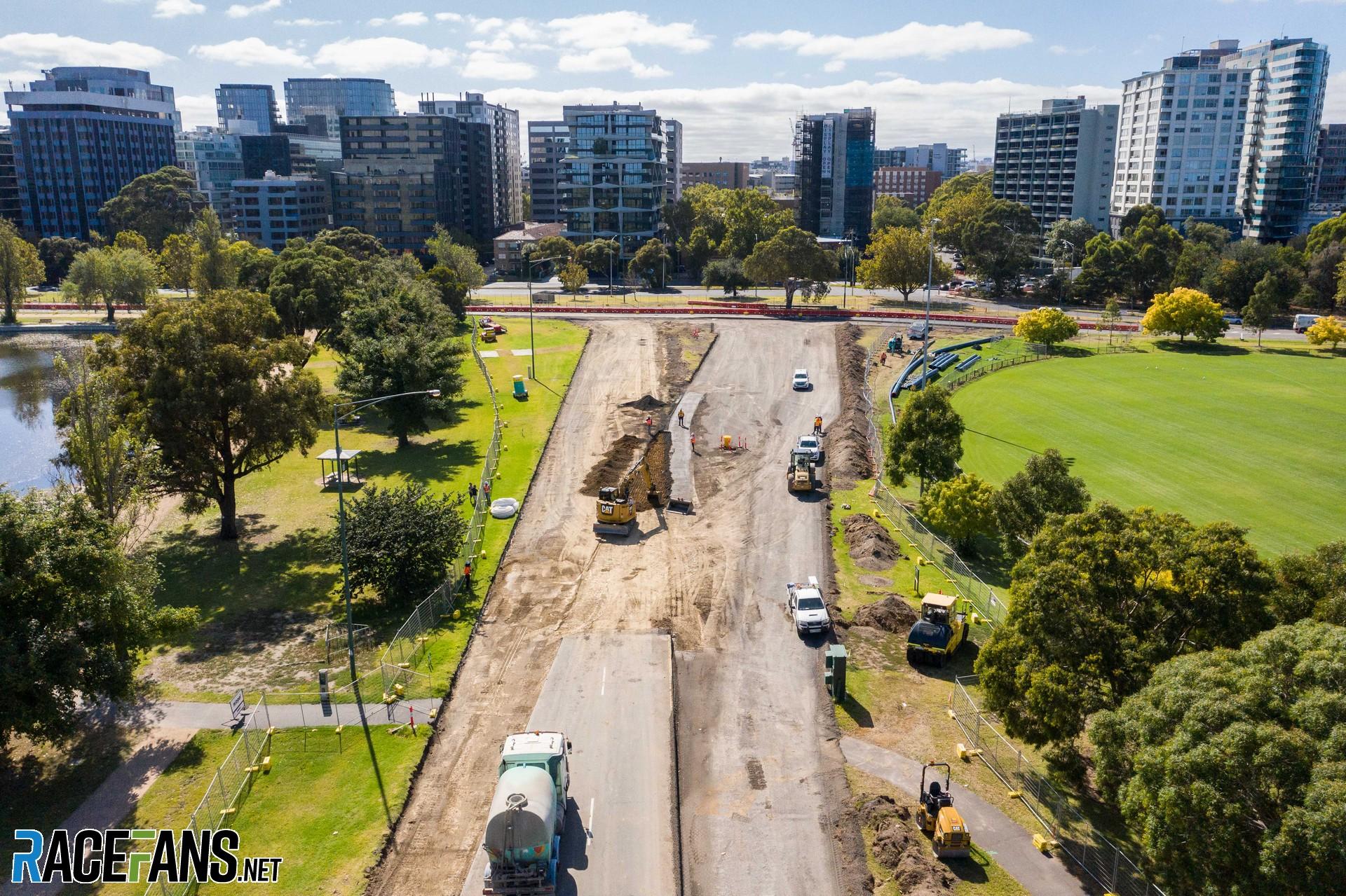 Turn 13 changes, Albert Park, Melbourne, 2021