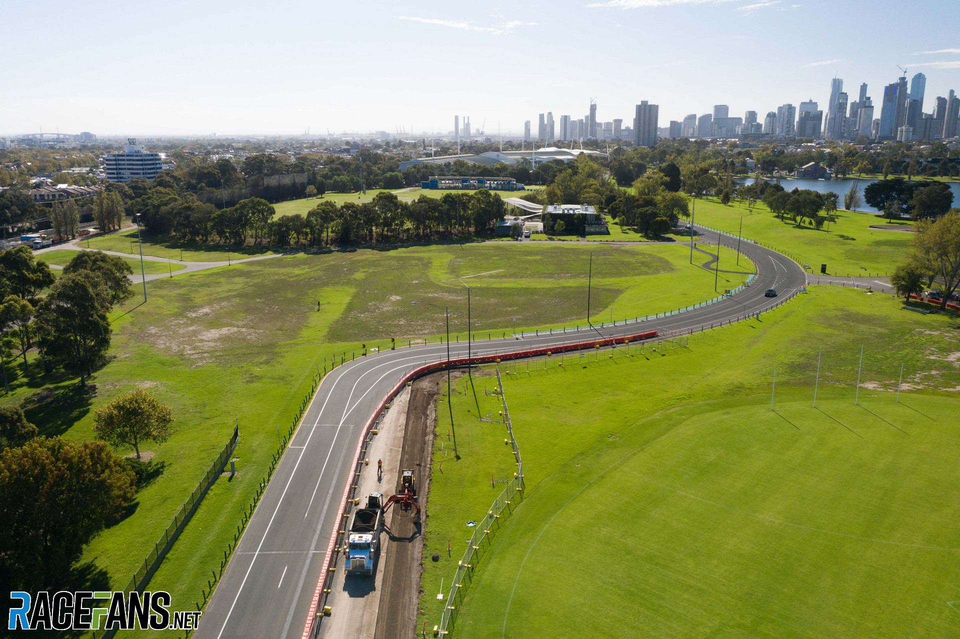 Turn one changes, Albert Park, Melbourne, 2021