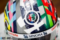 Antonio Giovinazzi's 2021 Emilia-Romagna Grand Prix helmet