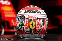 Charles Leclerc's 2021 Emilia-Romagna Grand Prix helmet