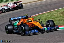 Lando Norris, McLaren, Imola, 2021