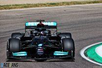 """That's a surprise!"": Hamilton beats Perez and Verstappen to Imola pole"