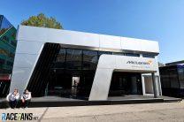 McLaren motorhome, Imola, 2021