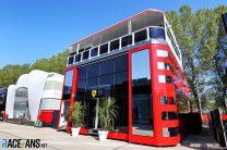 Ferrari motorhome, Imola, 2021