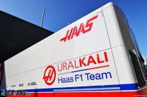 Haas truck, Imola, 2021