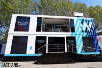 Williams motorhome, Imola, 2021
