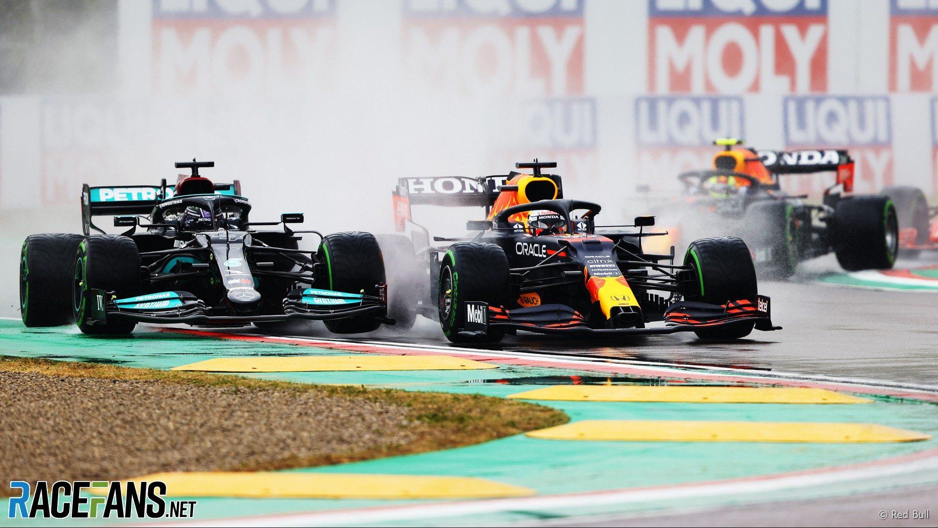 Lewis Hamilton, Max Verstappen, Imola, 2021