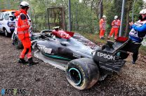 """Mercedes fear chassis """"write-off"""" from Bottas-Russell crash will slow their development"""