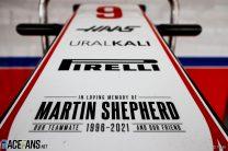 Tribute to Haas team member Martin Shepherd, Algarve, 2021