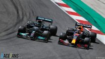 "Hamilton: Verstappen's mistake gave me ""perfect"" chance to pass"