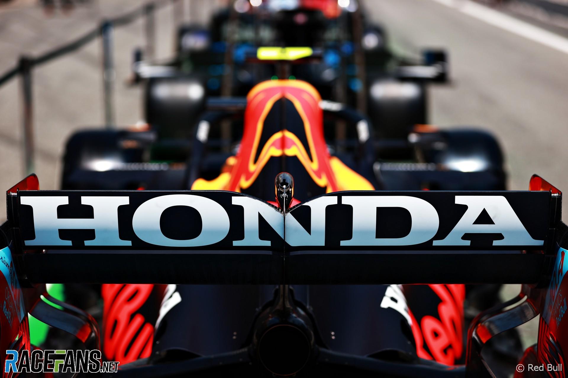 Honda logo, Red Bull, Circuit de Catalunya, 2021
