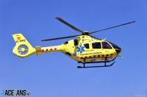Medical helicopter, Circuit de Catalunya, 2021
