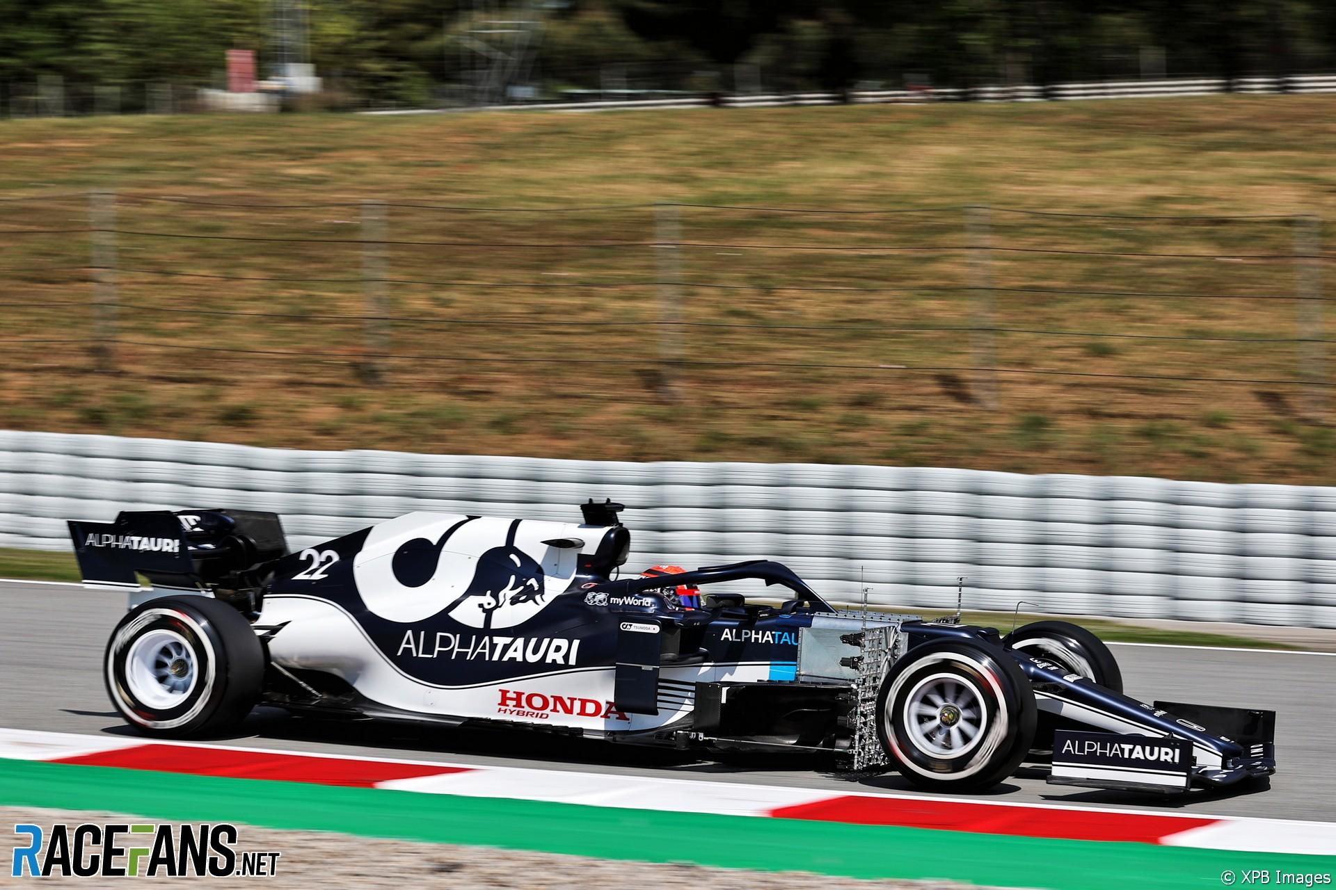 Yuki Tsunoda, AlphaTauri, Circuit de Catalunya, 2021