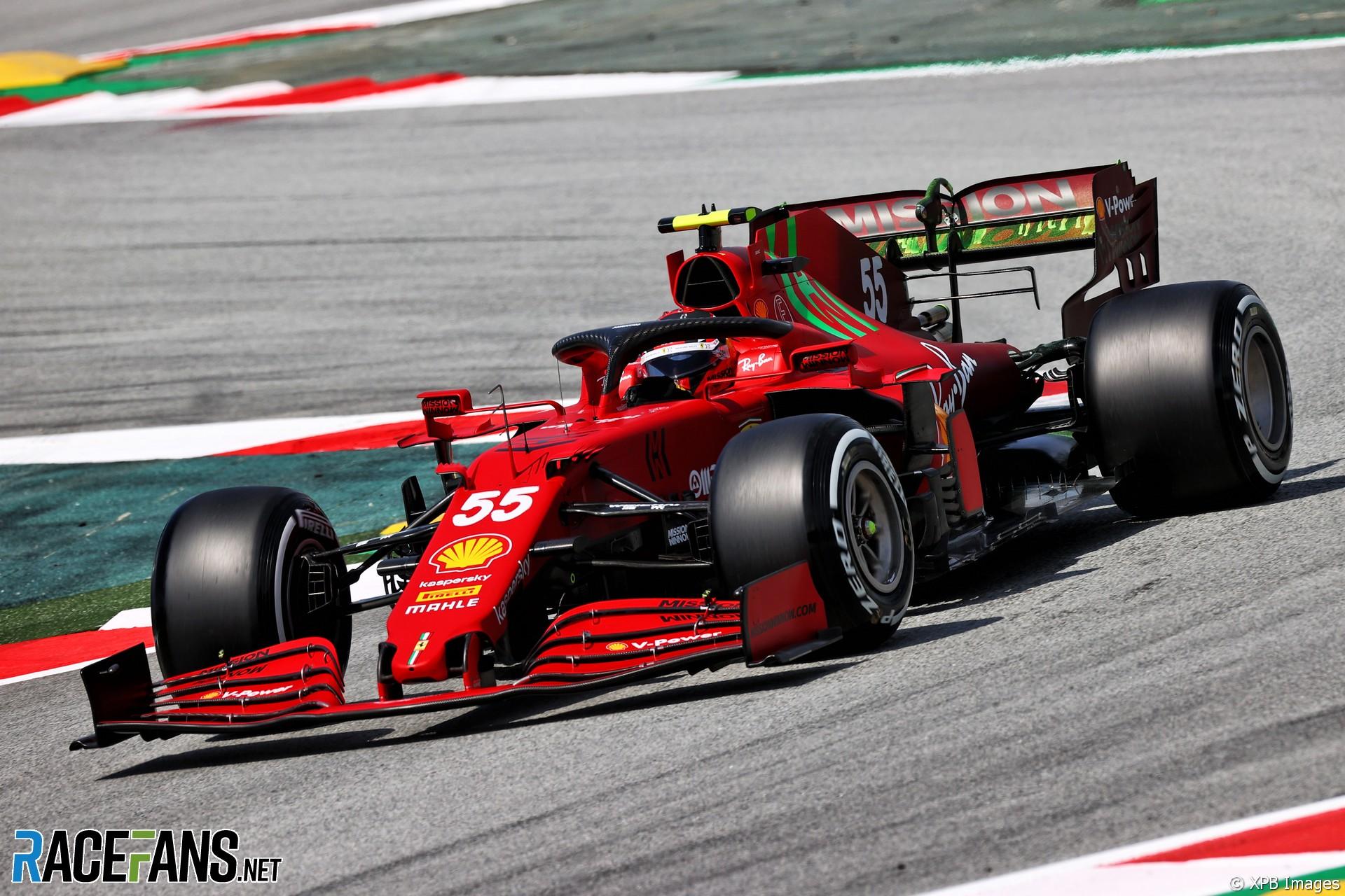 Carlos Sainz Jnr, Ferrari, Circuit de Catalunya, 2021