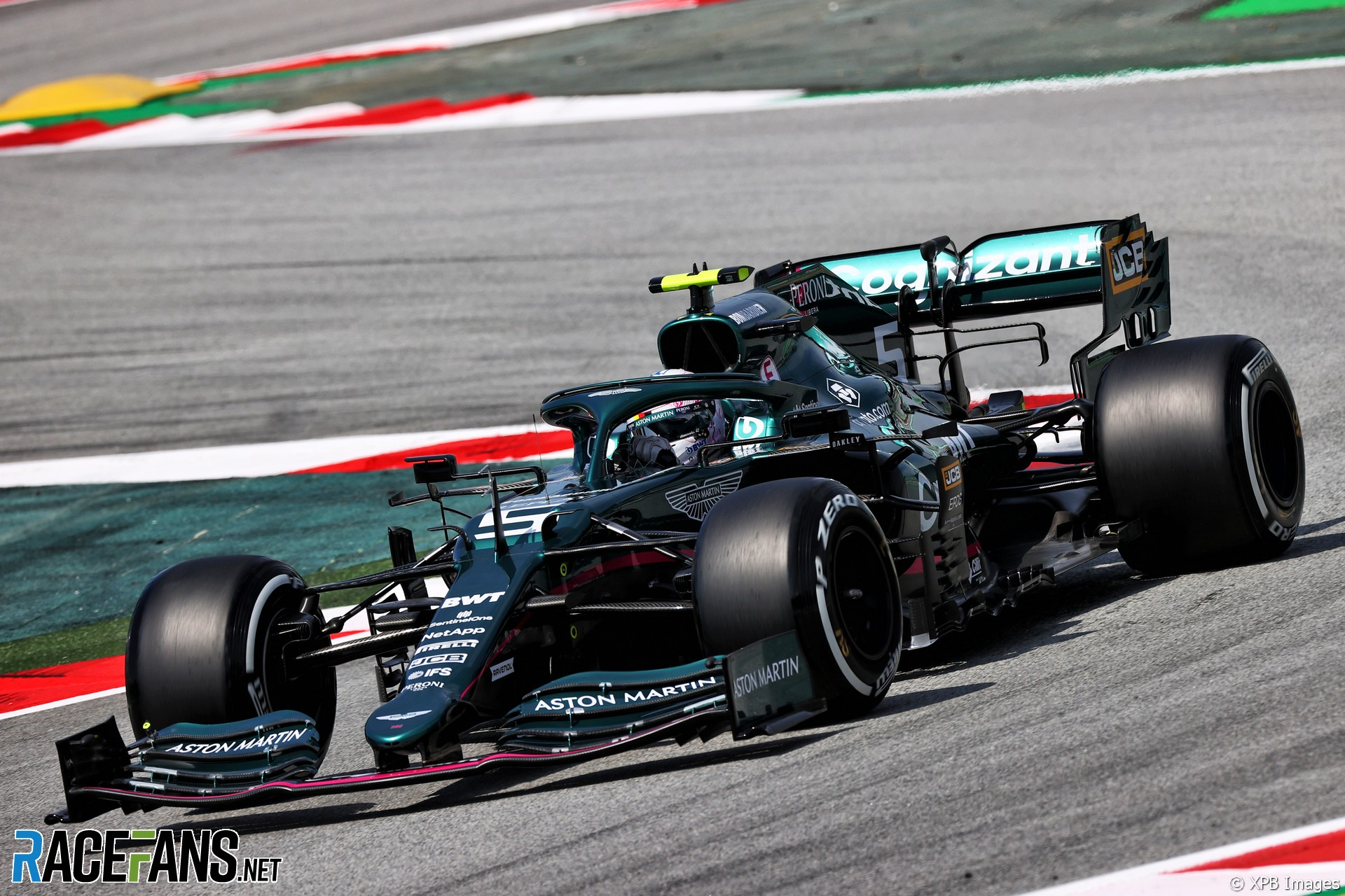 Sebastian Vettel, Aston Martin, Circuit de Catalunya, 2021