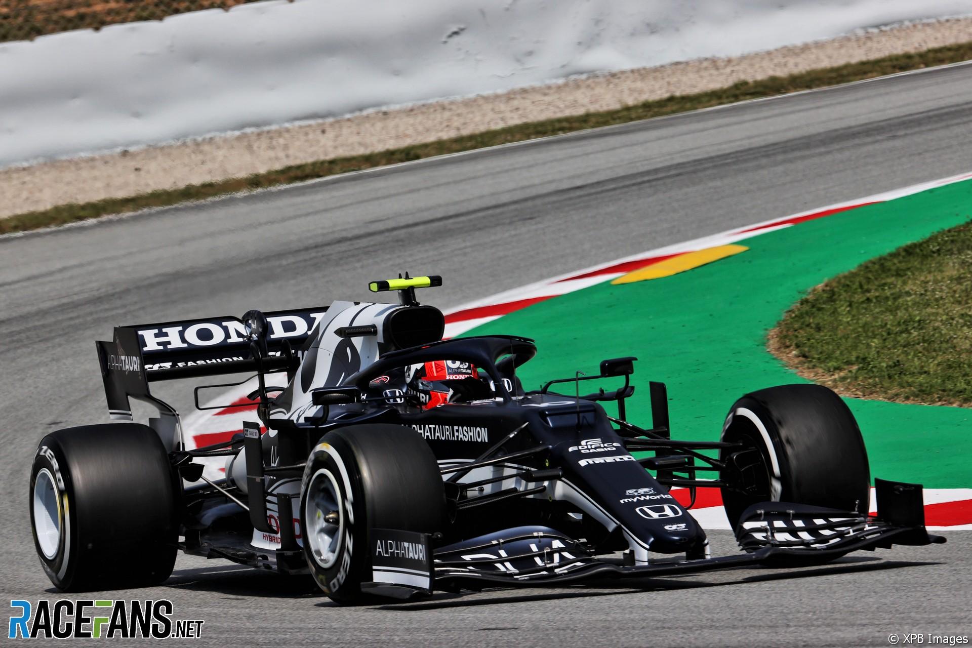 Pierre Gasly, AlphaTauri, Circuit de Catalunya, 2021