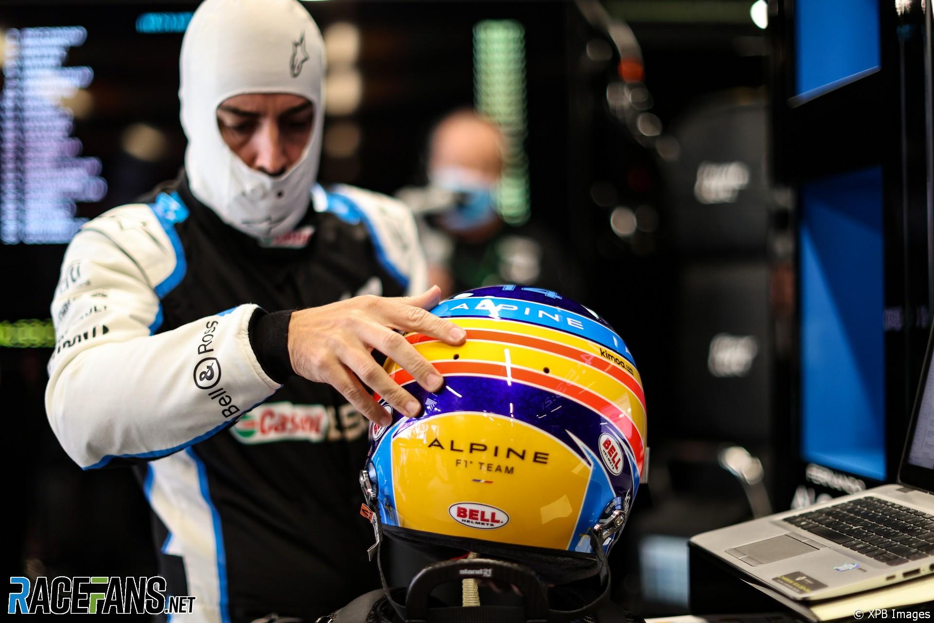 Fernando Alonso, Alpine, Circuit de Catalunya, 2021