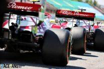 Kimi Raikkonen, Antonio Giovinazzi, Alfa Romeo, Circuit de Catalunya, 2021