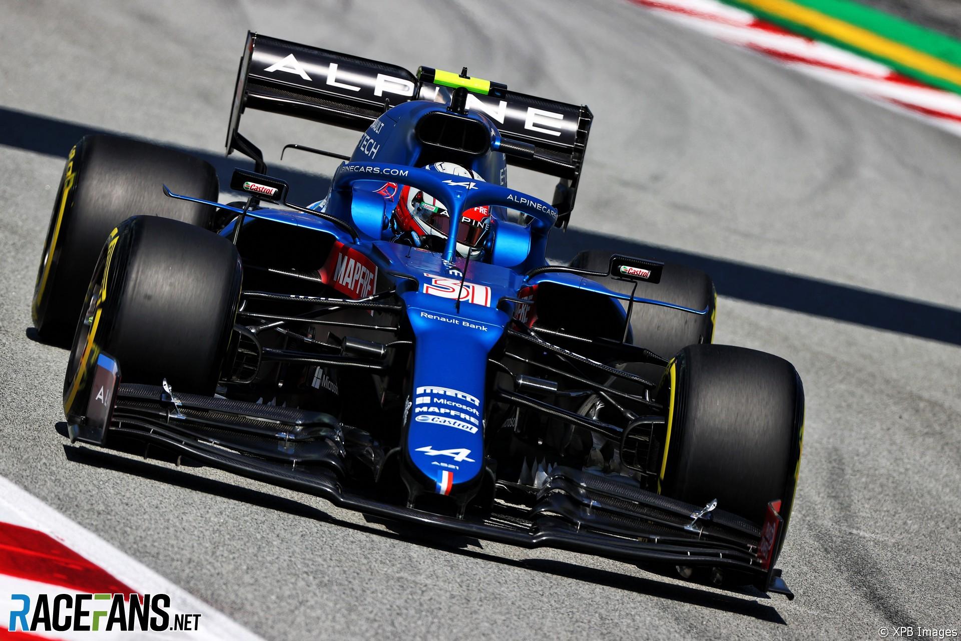 Esteban Ocon, Alpine, Circuit de Catalunya, 2021