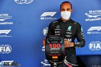 Hamilton takes 100th pole by hundredths from Verstappen