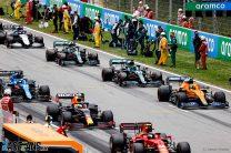 Cars on the grid, Circuit de Catalunya, 2021