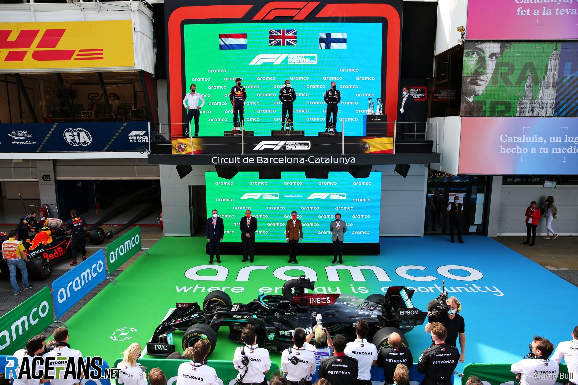 Podium, Circuit de Catalunya, 2021