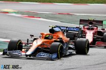 """Norris admits move on Sainz was """"not really allowed"""" after black-and-white flag"""