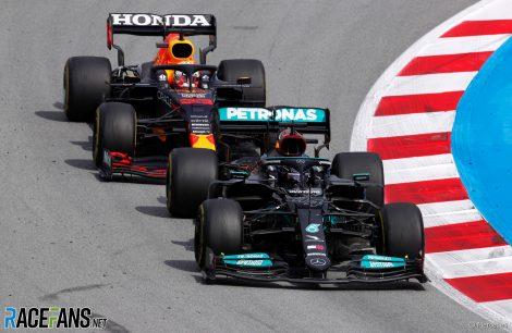 Lewis Hamilton, Max Verstappen, Circuit de Catalunya, 2021