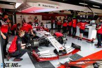 Robert Kubica, Alfa Romeo, 18-inch tyre test, Circuit de Catalunya, 2021