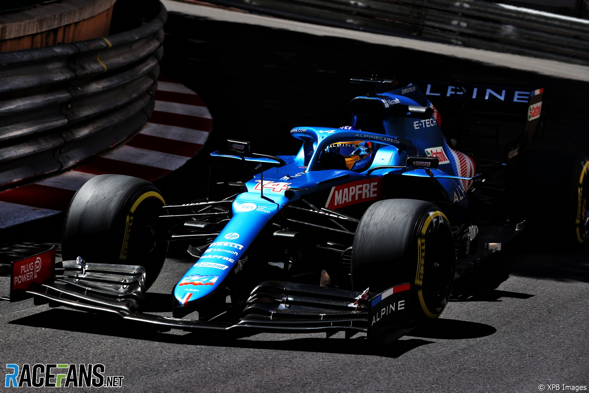 Fernando Alonso, Alpine, Monaco, 2021