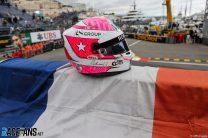 The helmet of Anthoine Hubert, Monaco, 2021