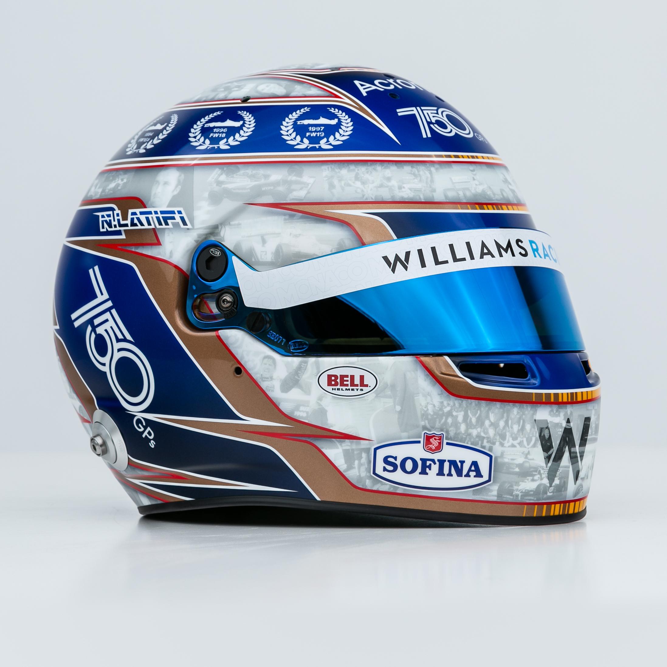 Nicholas Latifi 2021 Monaco Grand Prix helmet