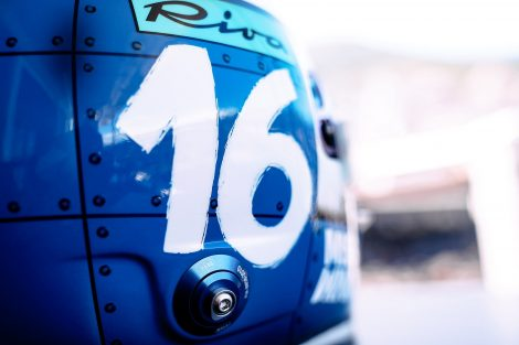 Charles Leclerc 2021 Monaco Grand Prix helmet