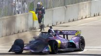 Grosjean tackles fire after second retirement of luckless weekend