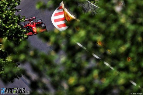 Charles Leclerc, Ferrari, Circuit de la ville de Bakou, 2021