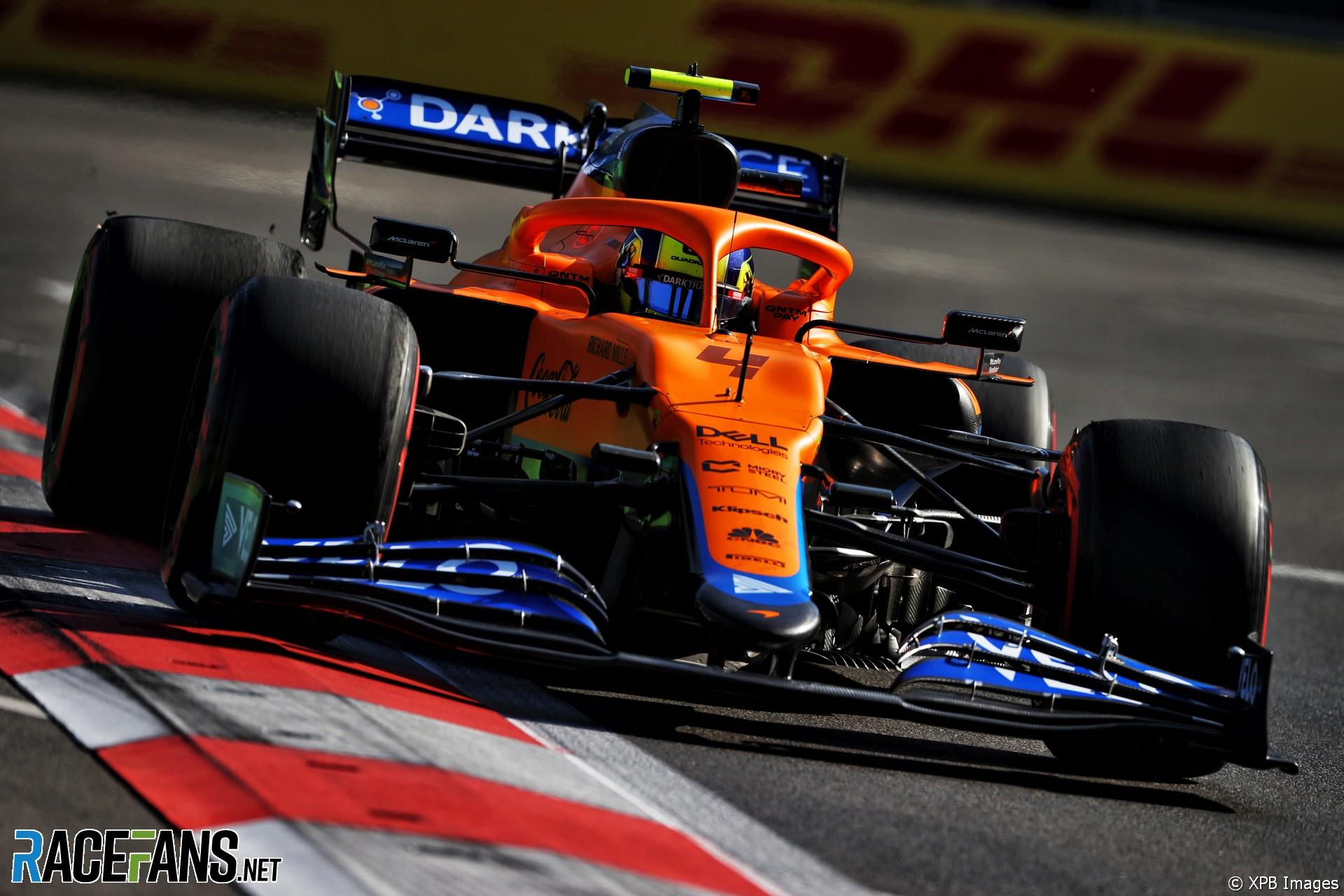 Lando Norris, McLaren, Baku City Circuit, 2021