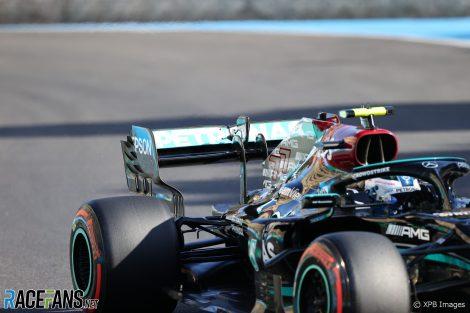 Valtteri Bottas' rear wing, Baku, 2021