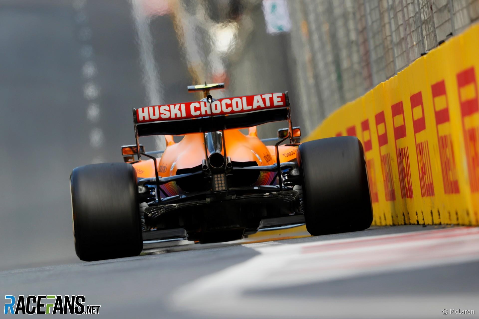 Lando Norris, McLaren, Baku Street Circuit, 2021