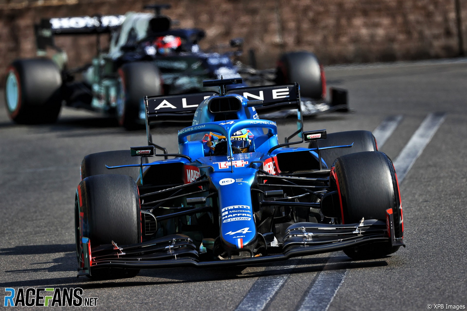 Fernando Alonso, Alpine, Baku City Circuit, 2021