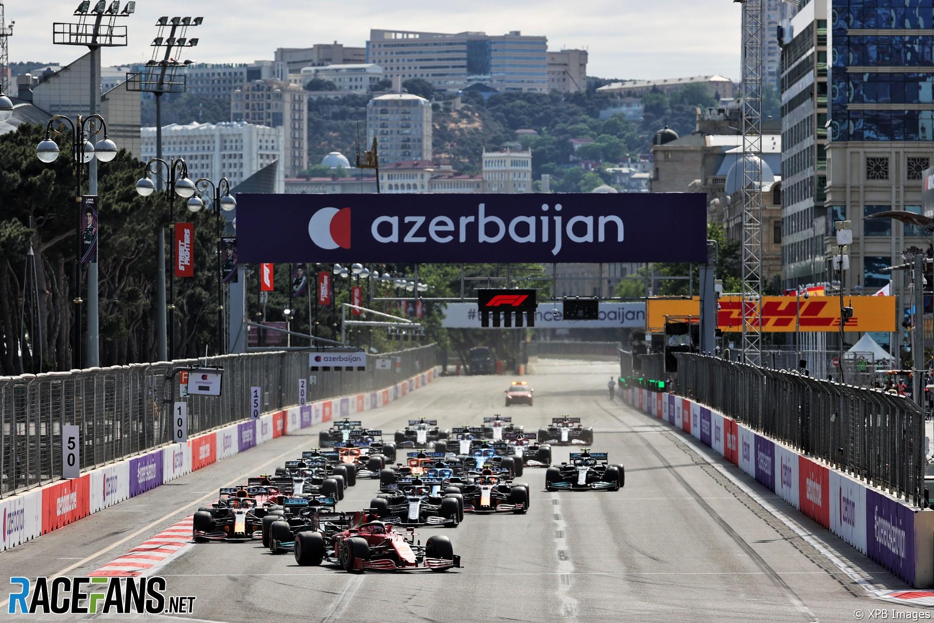 Start, Baku City Circuit, 2021