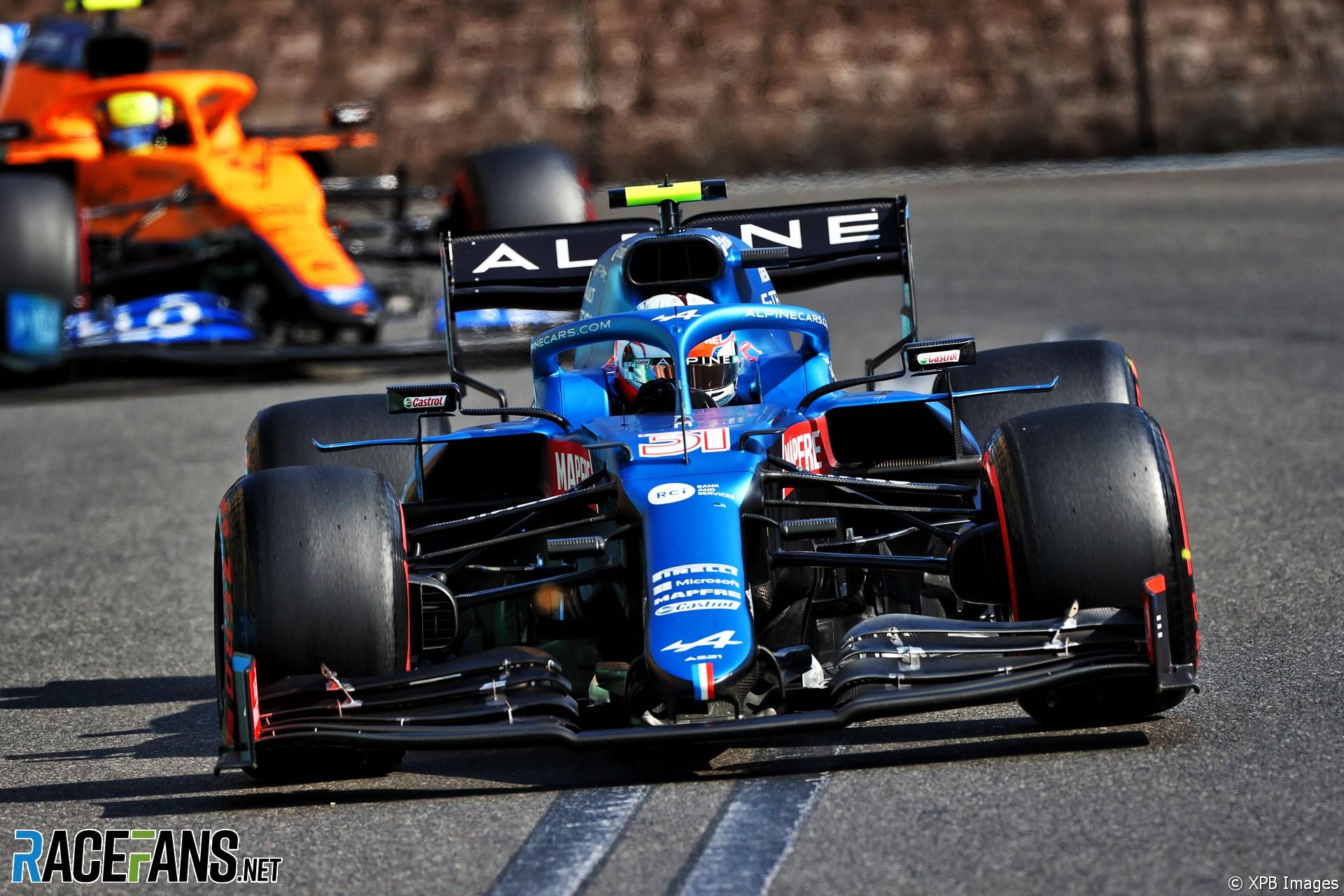 Esteban Ocon, Alpine, Baku City Circuit, 2021