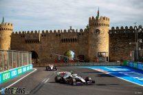 Mick Schumacher and Nikita Mazepin, Haas, Baku City Circuit, 2021