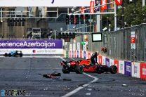 Azerbaijan Grand Prix stopped after huge crash costs Verstappen victory