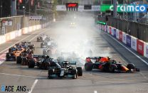 Perez wins as Hamilton and Verstappen fail to score in race of dramas