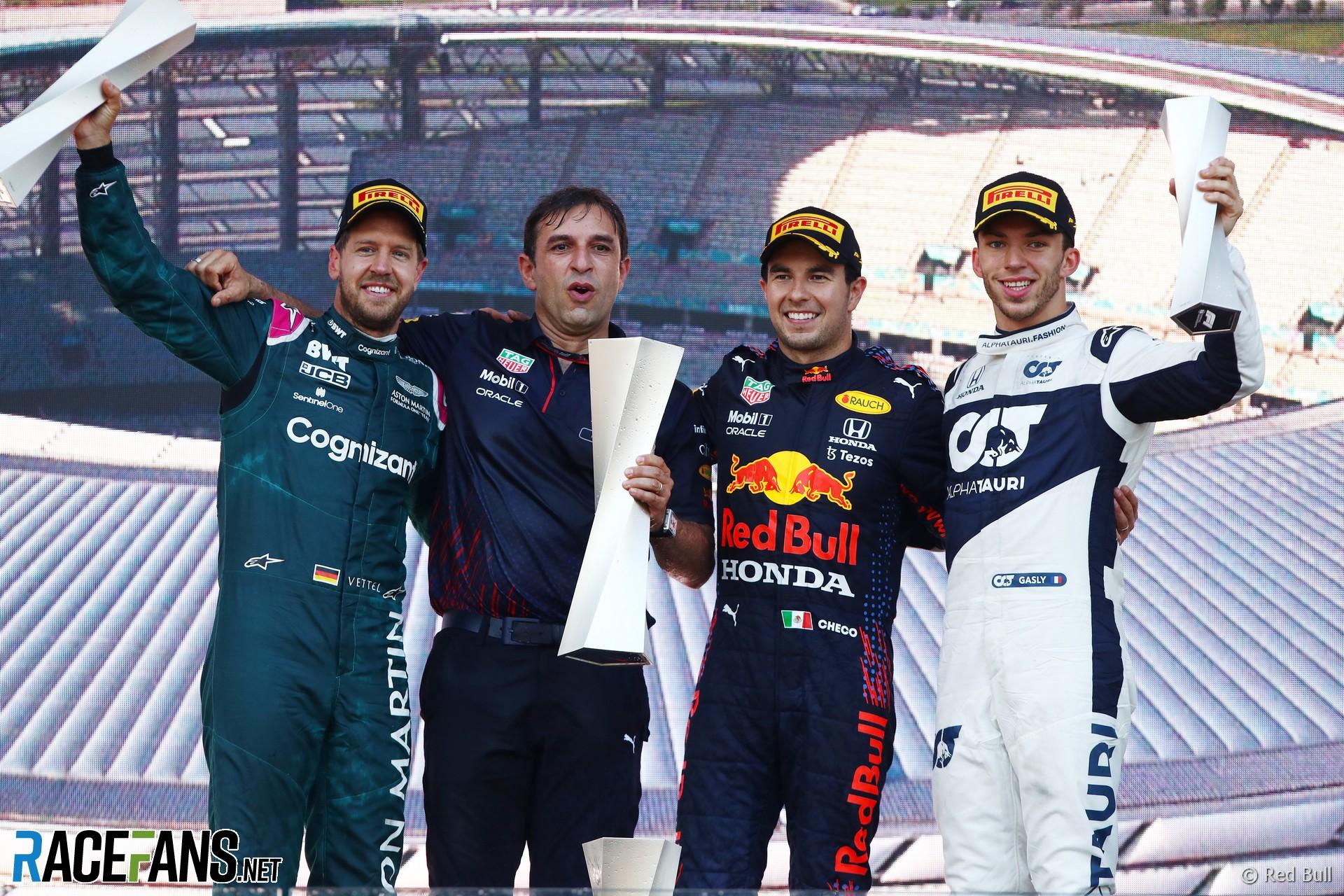 Podium, Baku City Circuit, 2021