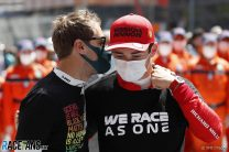 """Leclerc """"very happy for Seb"""" after Aston Martin's first podium"""