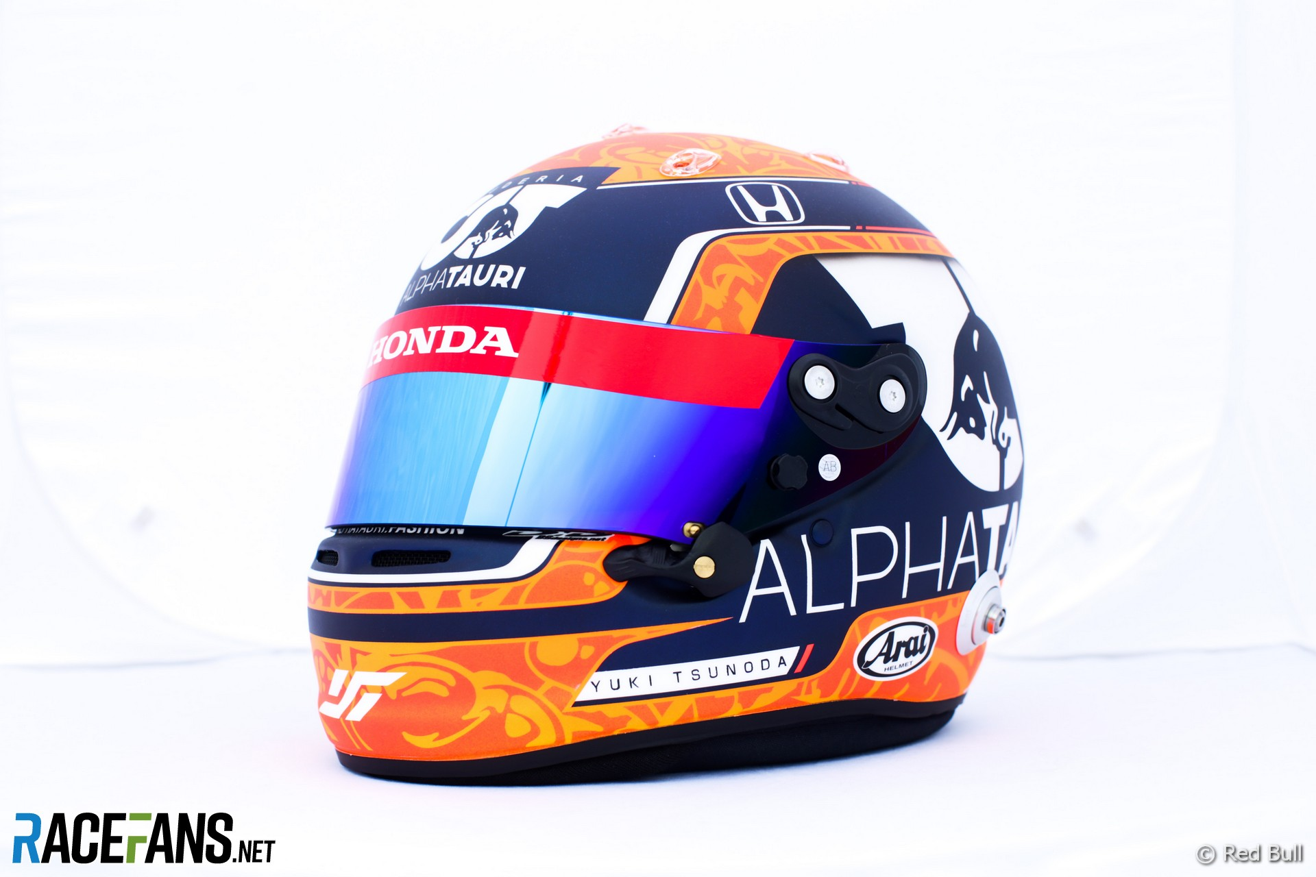 Yuki Tsunoda's 2021 French Grand Prix helmet